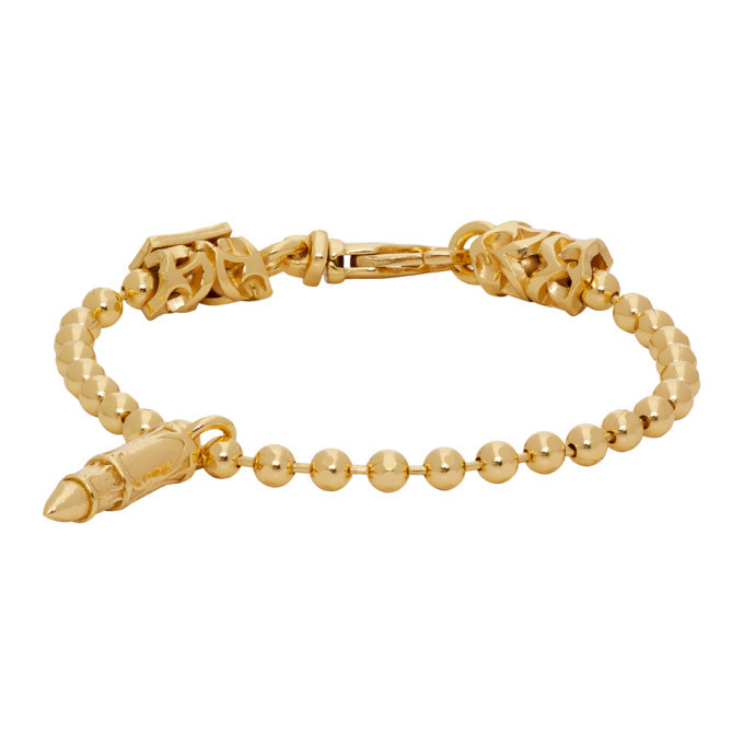 Photo: Emanuele Bicocchi Gold Bullet Bracelet