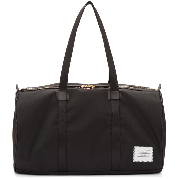 Photo: Thom Browne Black Small Unstructured Gym Bag