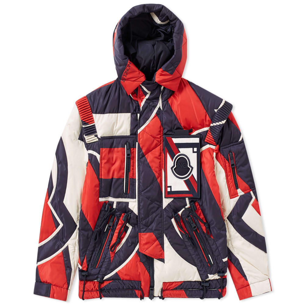 Photo: Moncler x Craig Green Patchwork Laplace Padded Hooded Jacket