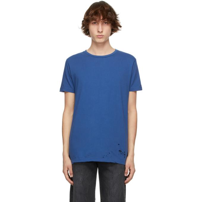 Photo: Ksubi Blue Distressed Seeing Lines T-Shirt