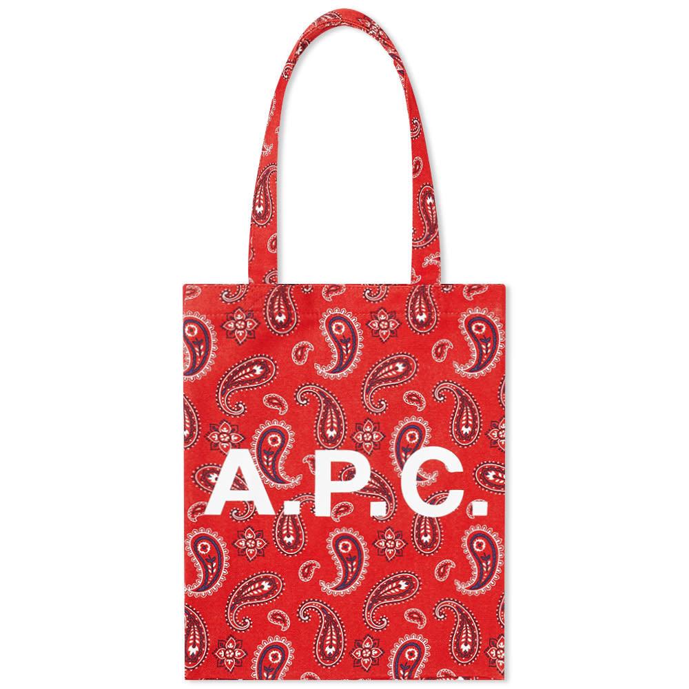 Photo: A.P.C. Lou Paisley Print Logo Tote