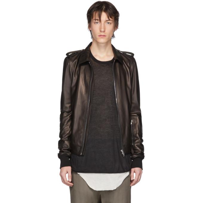 Photo: Rick Owens Black Leather Rotterdam Jacket