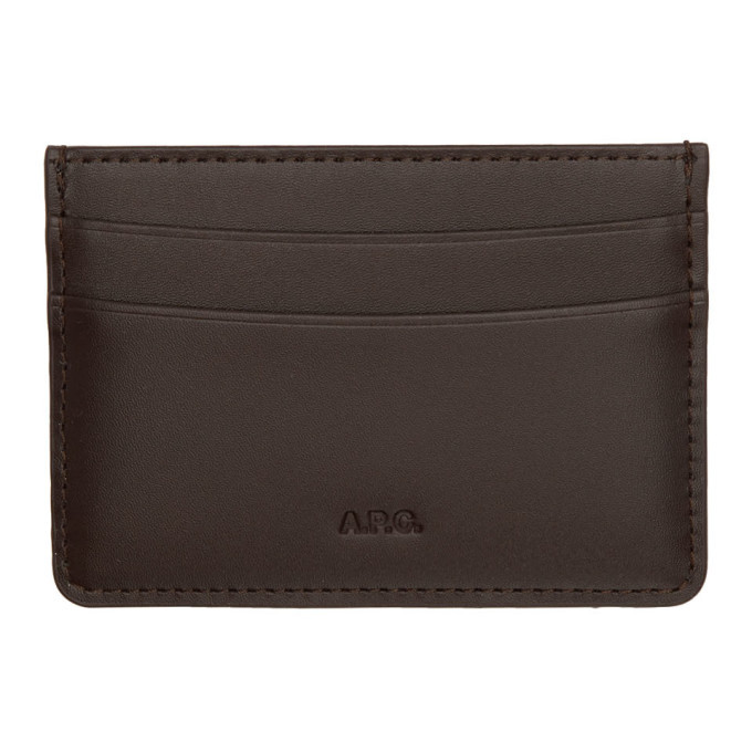 Photo: A.P.C. Brown Andre Card Holder