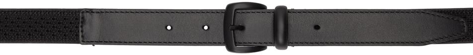 Photo: Giorgio Armani Black Webbing & Leather Belt