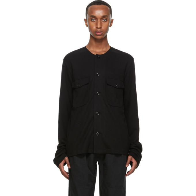 Photo: Lemaire Black Felted Shirt