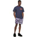 Aries Navy and White Bandana Board Shorts