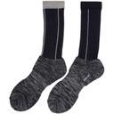 Sacai Navy and Grey Pinstripe Socks