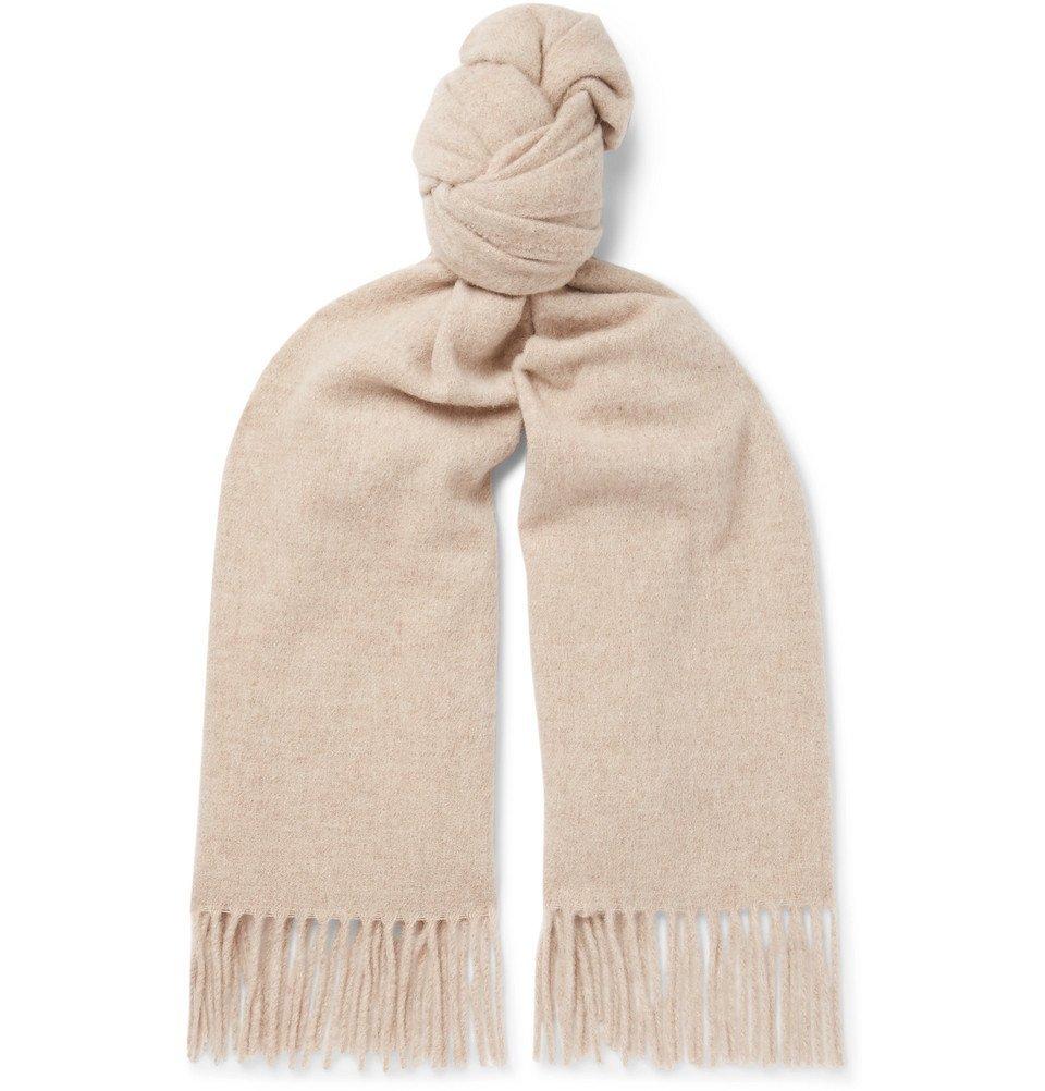 Acne Studios - Canada Fringed Wool Scarf - Men - Beige