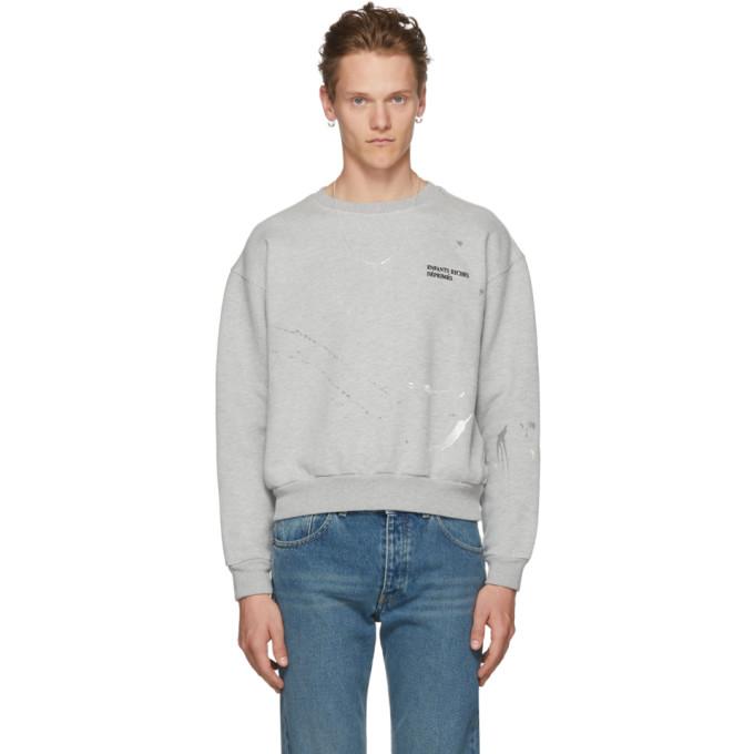 Photo: Enfants Riches Deprimes Grey Paint Logo Sweatshirt