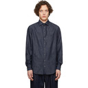 Giorgio Armani Indigo Exclusive Edition Herringbone Shirt