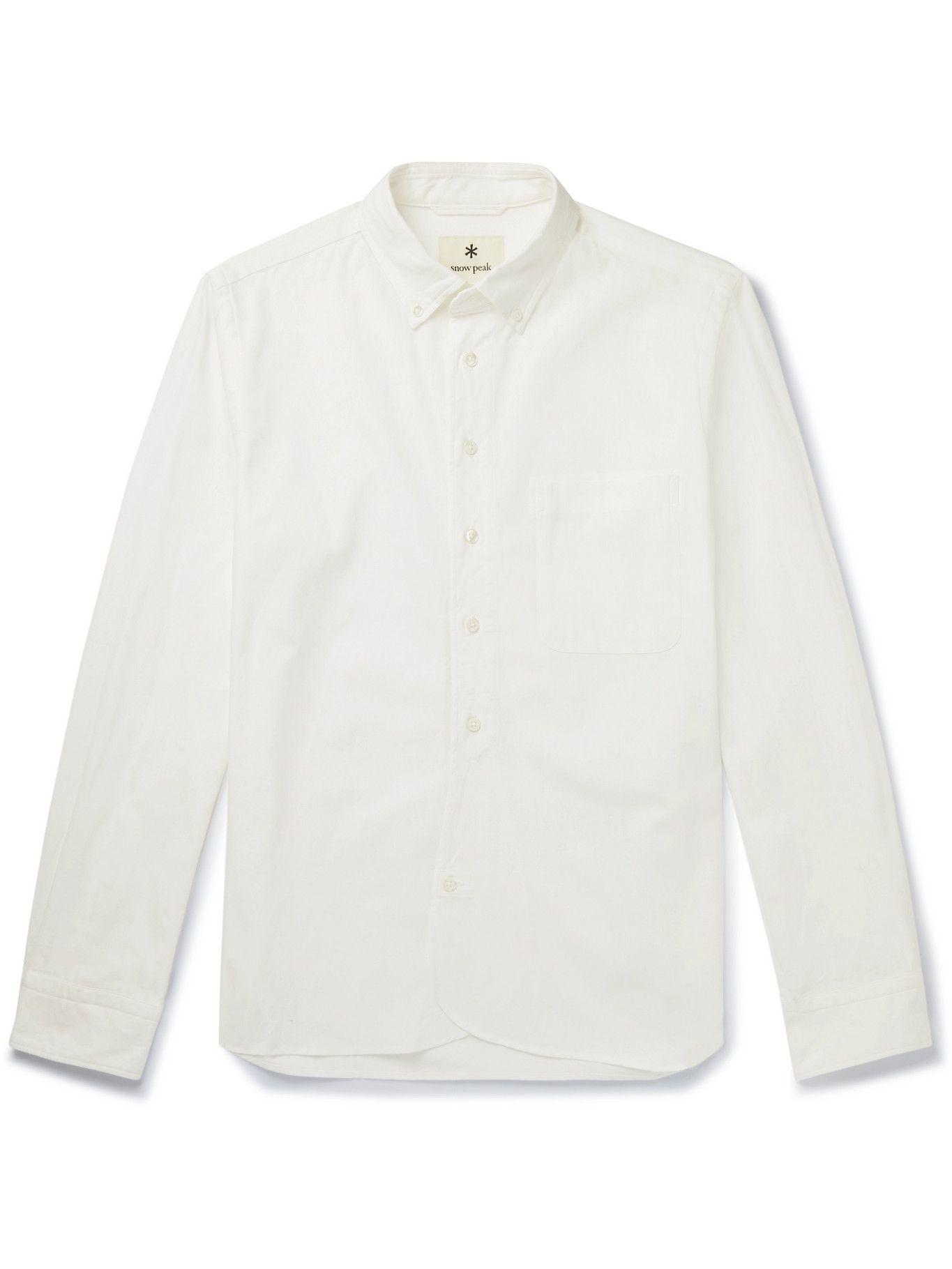Photo: Snow Peak - Button-Down Collar Organic Cotton-Poplin Shirt - White