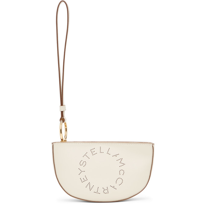 Photo: Stella McCartney Beige Logo Wristlet Pouch