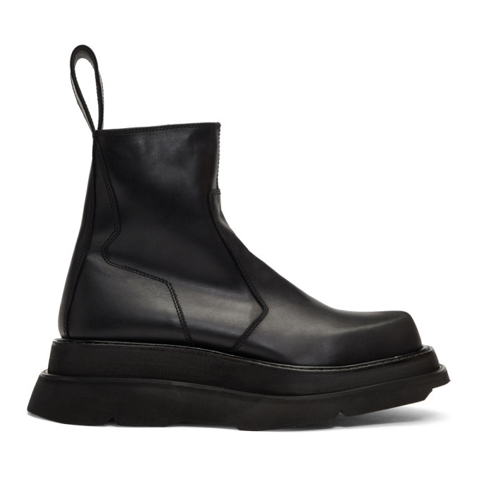 Photo: Julius Black Side Zip Boots