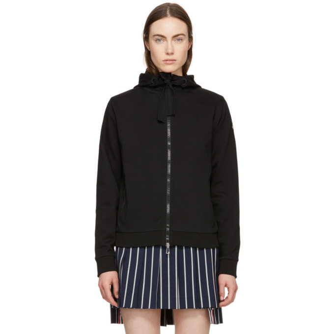 Photo: Moncler Black Zip-Up Hoodie