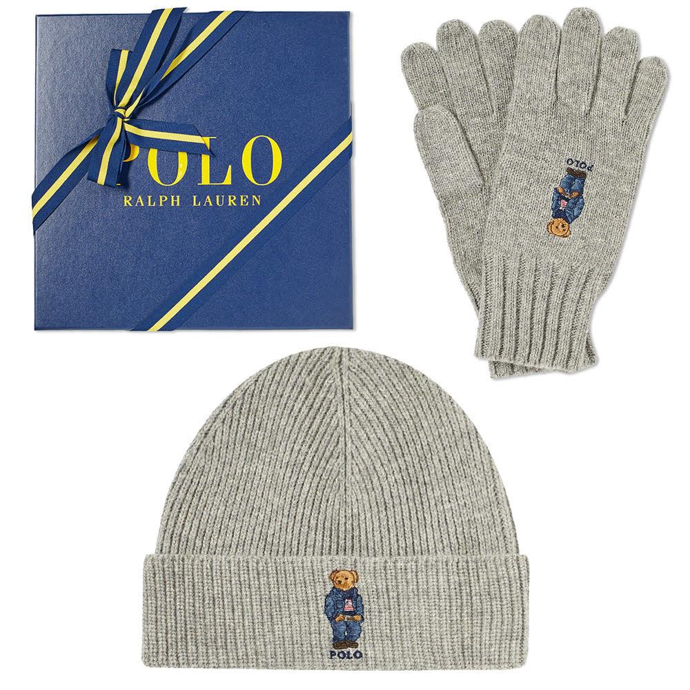Photo: Polo Ralph Lauren Classic Bear Glove & Hat Gift Box