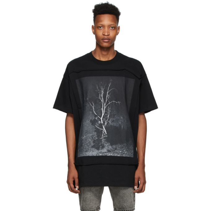 Photo: Johnlawrencesullivan Black Oversized Photo T-Shirt