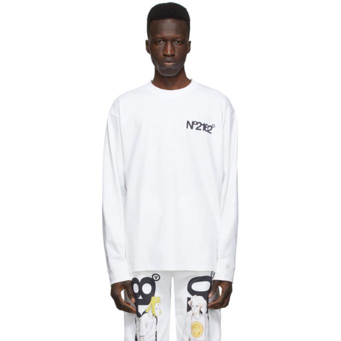 Photo: The DSA White NO2162 Long Sleeve T-Shirt