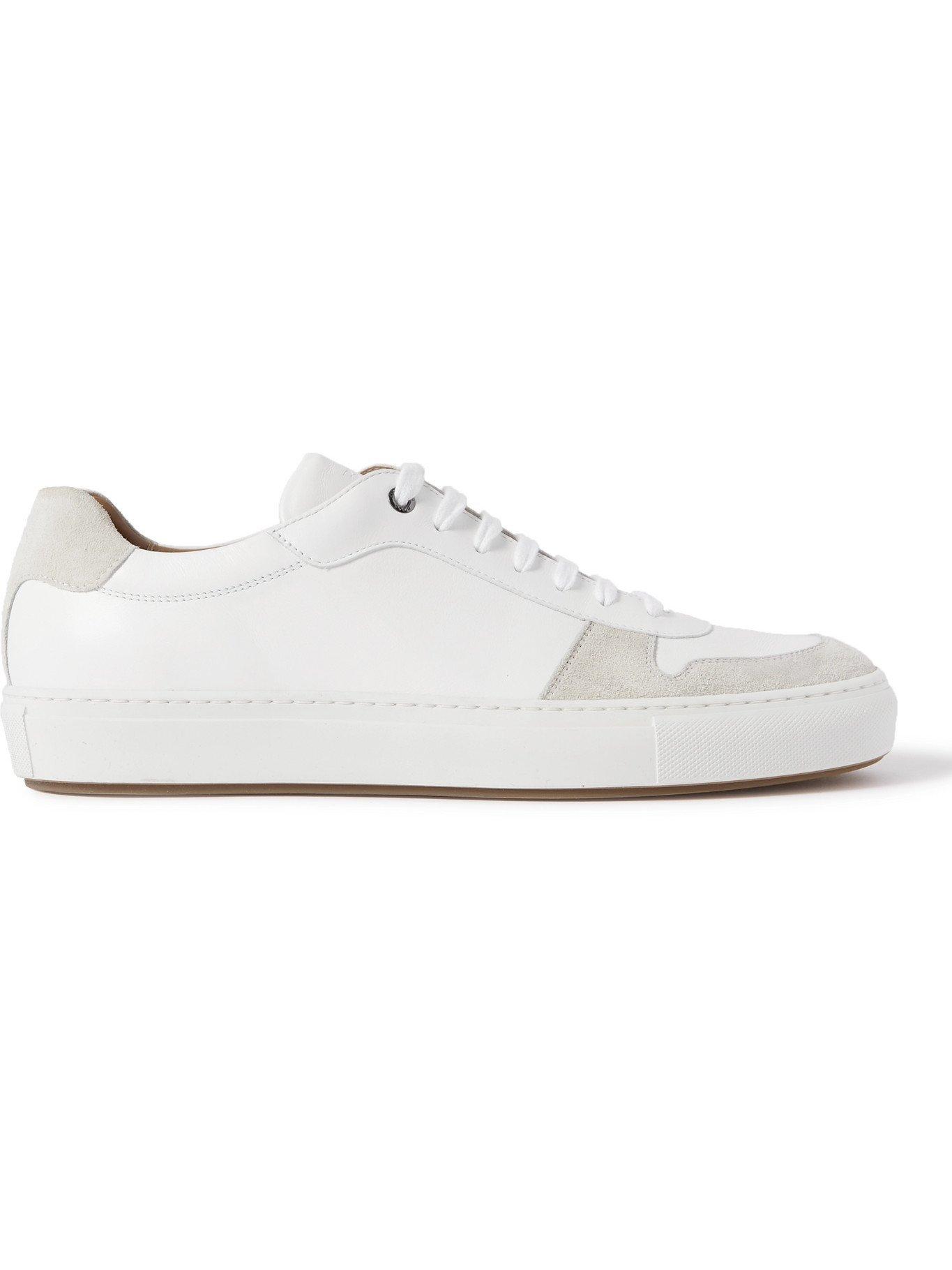 HUGO BOSS - Leather and Suede Sneakers - White - UK 8