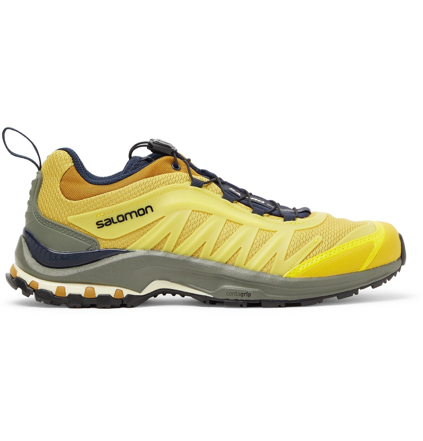 Photo: Salomon - XA-Pro Fusion Advanced Mesh and Rubber Running Sneakers - Yellow