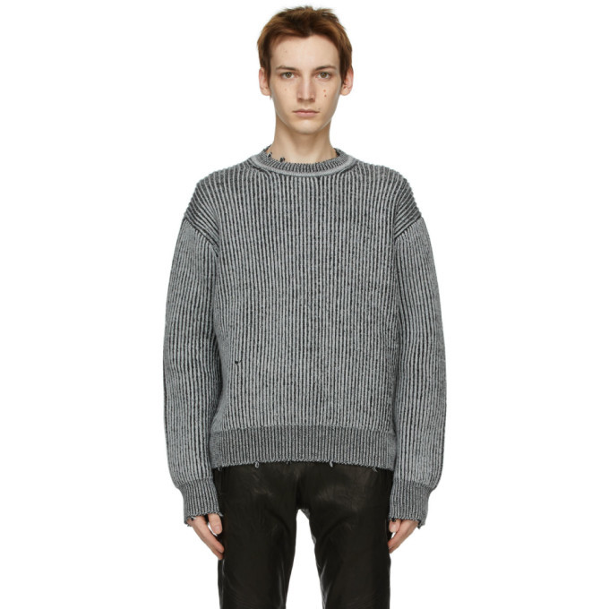 Photo: John Elliott Grey Wool Structure Sweater