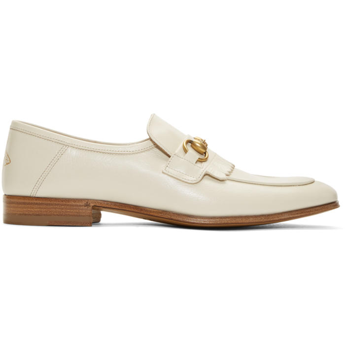 Photo: Gucci White Harbor Loafers