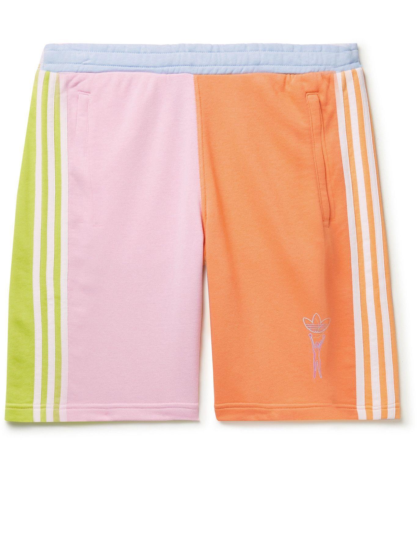 Photo: adidas Originals - Love Unites Colour-Block Cotton-Blend Jersey Shorts - Multi