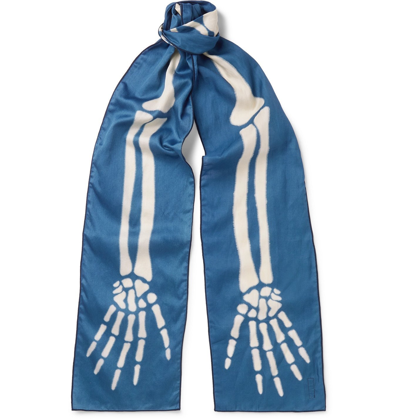 KAPITAL - Printed Cotton-Gauze Scarf - Blue