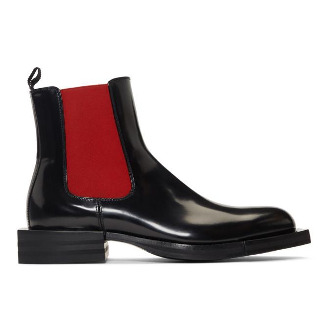 Photo: Alexander McQueen Black Patent Chelsea Boots