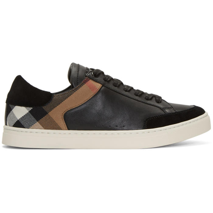 Photo: Burberry Black Rettford Check Sneakers