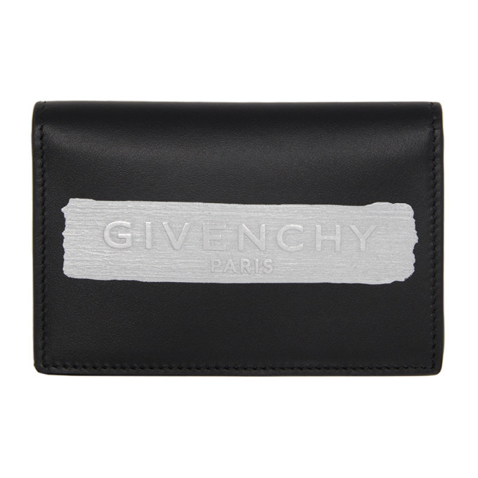 Photo: Givenchy Black Latex Logo Bifold Wallet