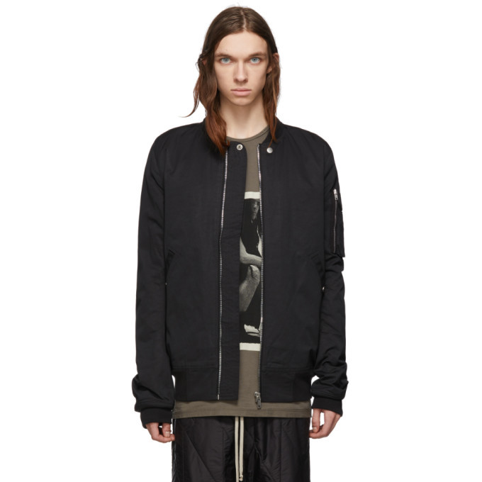Photo: Rick Owens Drkshdw Black Flight Bomber Jacket