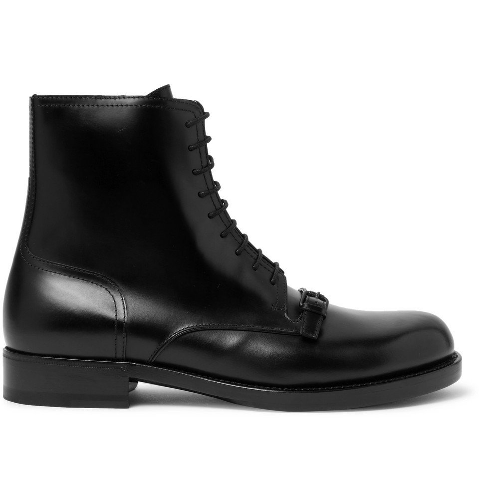 Photo: Bottega Veneta - Polished-Leather Boots - Men - Black