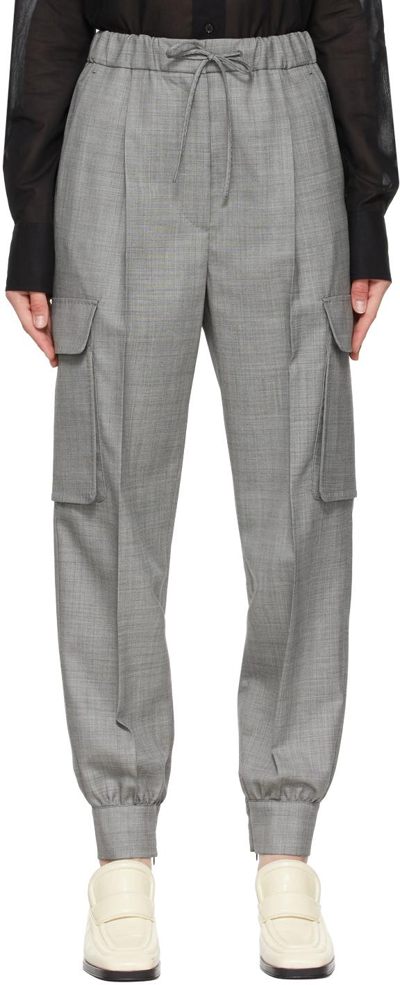 Photo: Max Mara Grey Pianosa Trousers