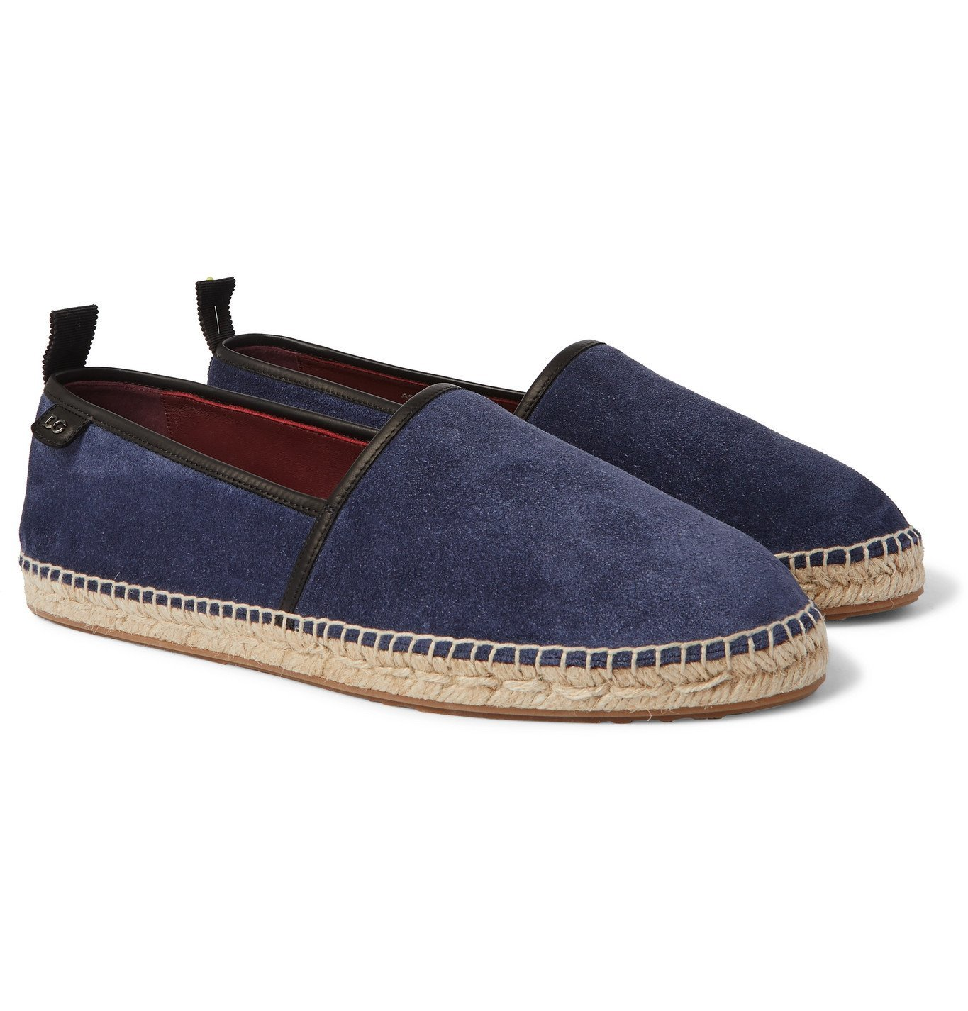 Photo: Dolce & Gabbana - Leather-Trimmed Suede Espadrilles - Blue