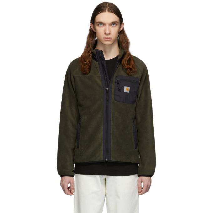 Photo: Carhartt Work In Progress Green Prentis Liner Jacket