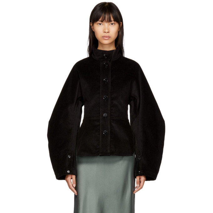 Photo: Lemaire Black Large Sleeve Corduroy Jacket