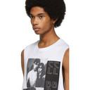 Raf Simons White Couple Sleeveless T-Shirt