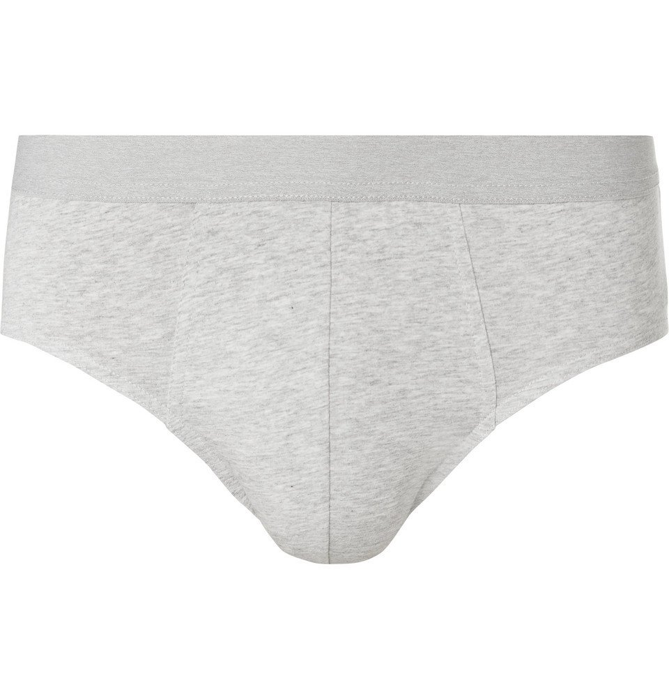 Photo: Acne Studios - Harald Mélange Stretch-Cotton Briefs - Gray