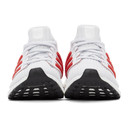 adidas Originals White and Red Ultraboost 4.0 DNA Sneakers