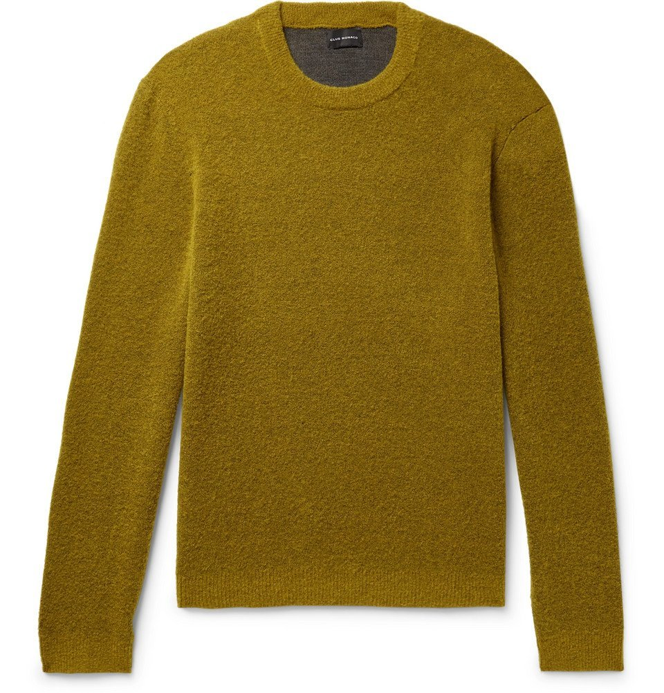 Photo: Club Monaco - Stretch Wool-Blend Bouclé Sweater - Chartreuse