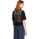 3.1 Phillip Lim Black Lace Combo Boxy T-Shirt