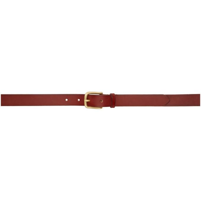 Photo: Maximum Henry Brown Slim Standard Buckle Belt