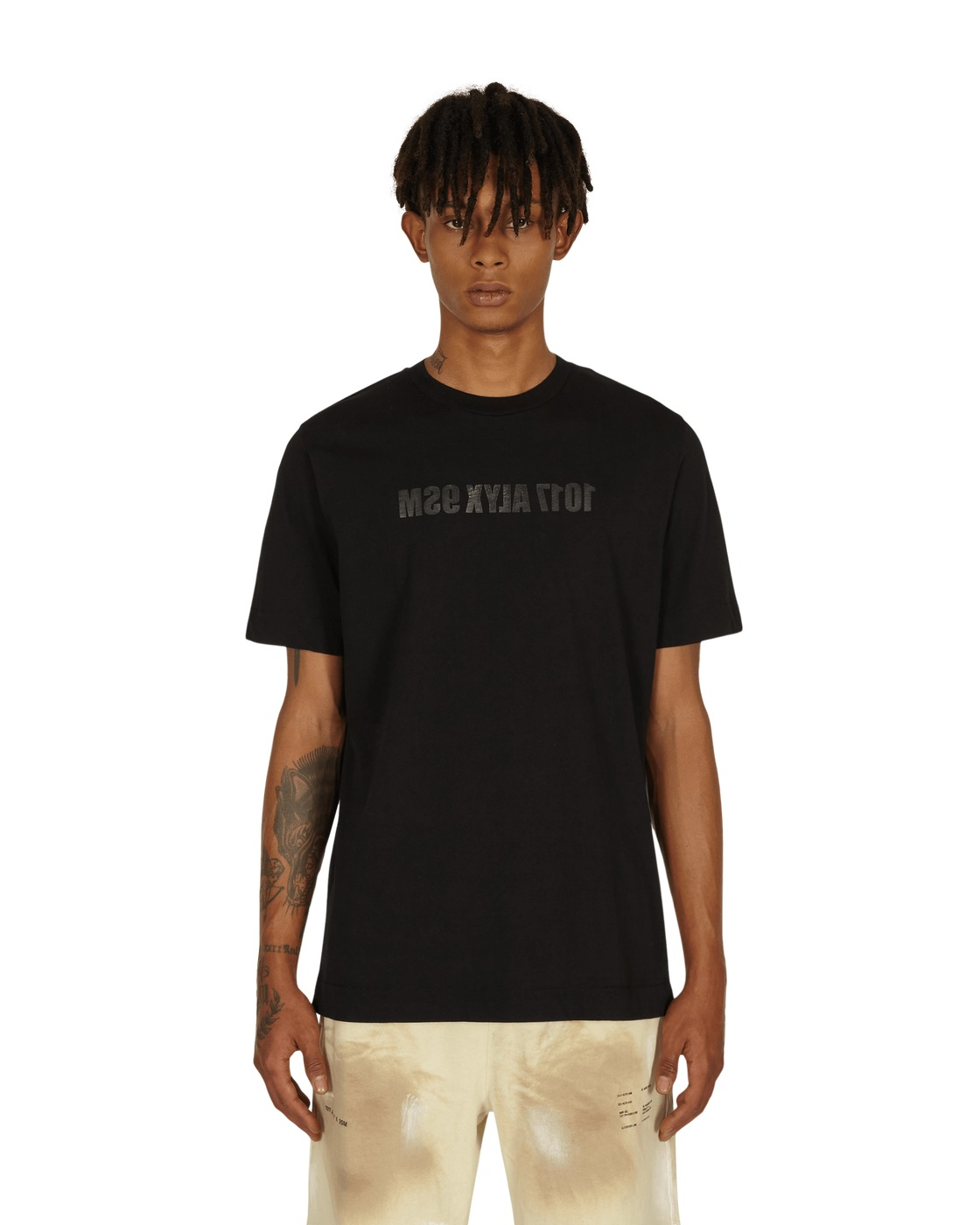 1017 Alyx 9sm Mirrored Logo T Shirt Black
