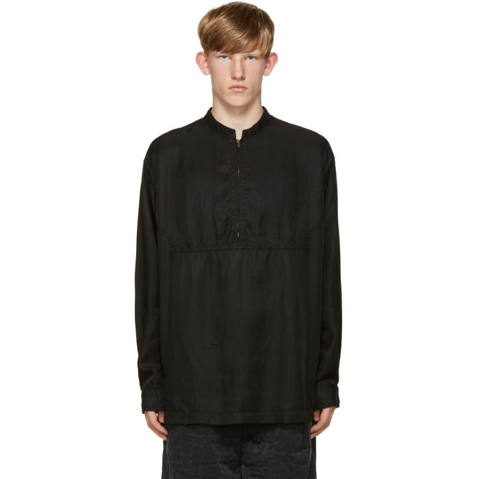 Photo: Robert Geller Black Zip Shirt