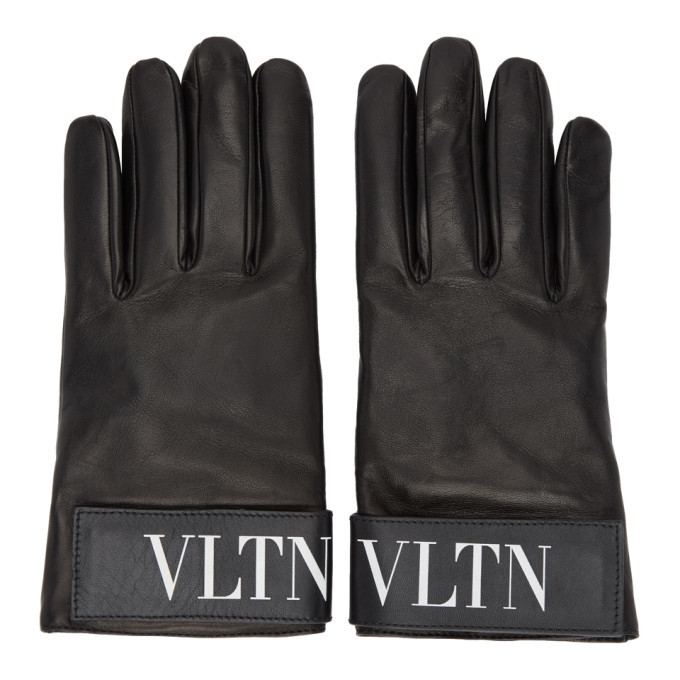 Photo: Valentino Black Valentino Garavani VLTN Gloves