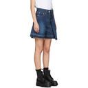 Sacai Blue Denim Asymmetric Shorts