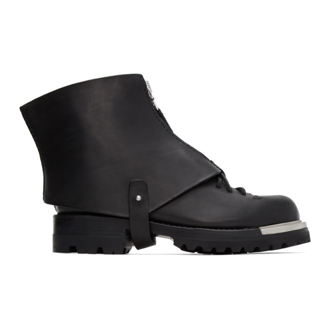 Photo: Feit SSENSE Exclusive Black Gator Metal Hiker Boots