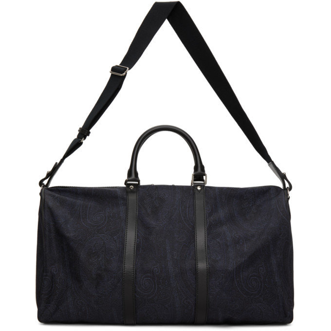 Photo: Etro Navy Paisley Duffle Bag