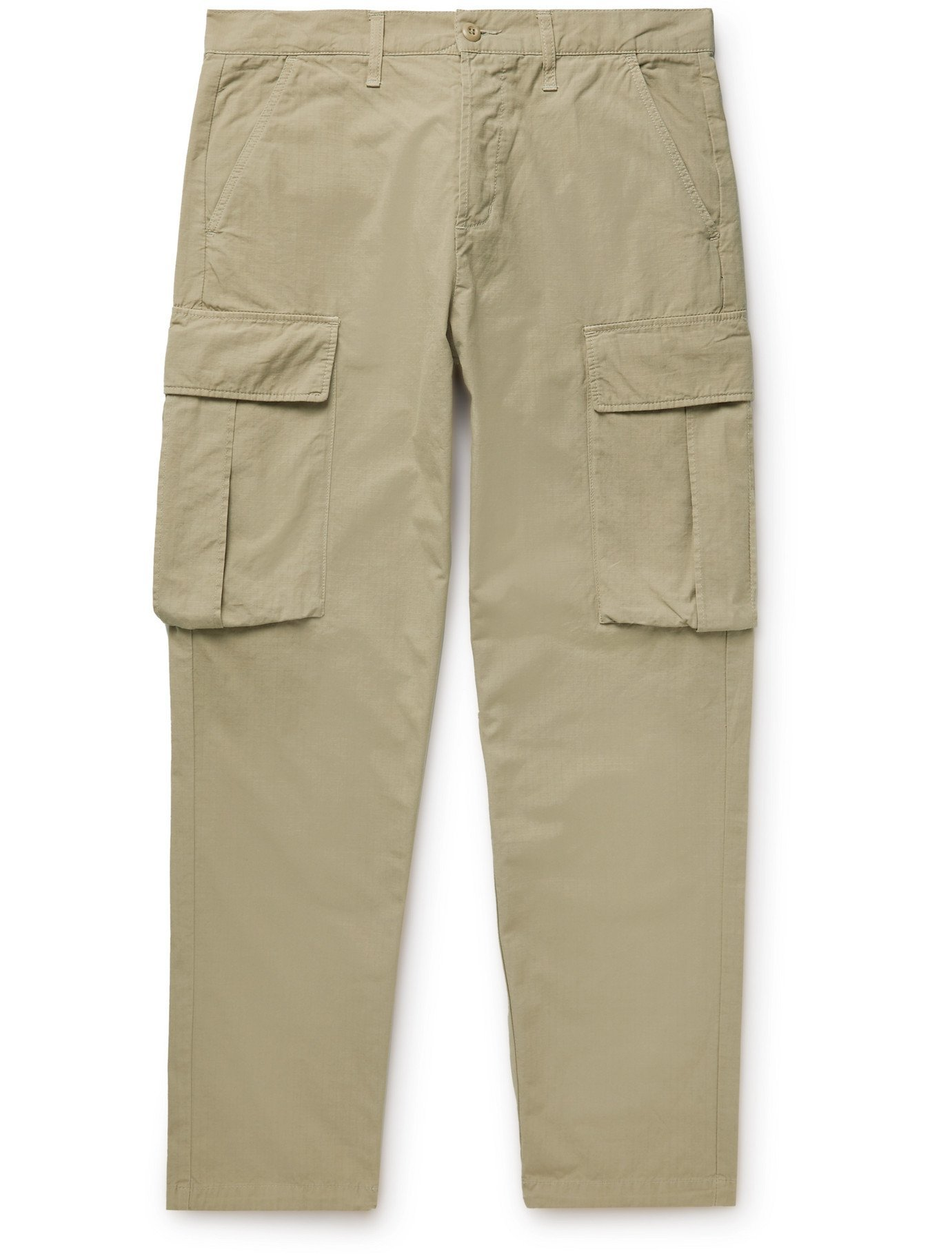 Photo: EDWIN - Jungle Garment-Dyed Enzyme-Washed Cotton-Ripstop Trousers - Neutrals