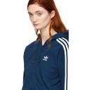 adidas Originals Blue 3-Stripes FZ Hoodie